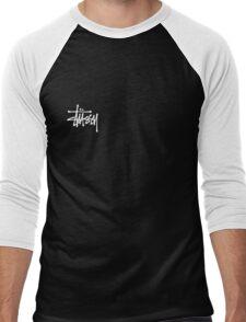 Stussy Logo Black Men's Baseball ¾ T-Shirt