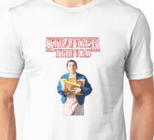 Eleven With Her Waffles on Stranger things Unisex T-Shirt
