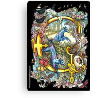 The Illustrated Alphabet Capital G (Fuller Bodied) Canvas Print