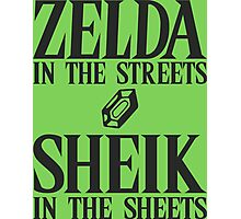 Zelda in the streets, Sheik in the sheets Photographic Print