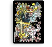 The Illustrated Alphabet Capital F (Fuller Bodied) Canvas Print