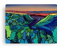 Evening on the Peace Canvas Print