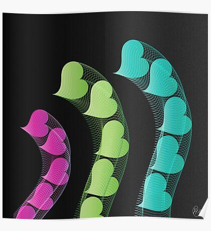 Heart Tremors   Digital Art Poster