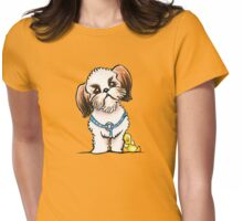 Shih Tzu Ducky Womens Fitted T-Shirt