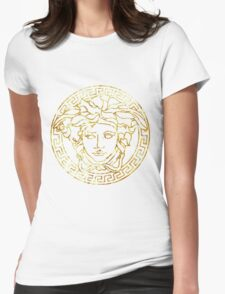 versace 1 Womens Fitted T-Shirt