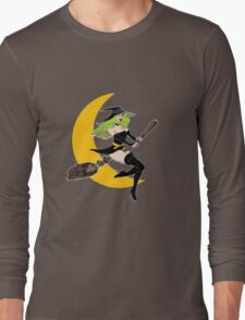 Green Witch's Moon Long Sleeve T-Shirt