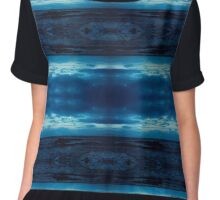 Atlantic Ocean at dusk Chiffon Top