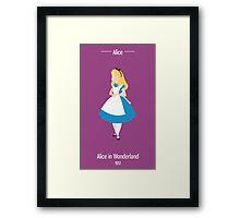 Alice Illustration Framed Print