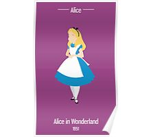 Alice Illustration Poster