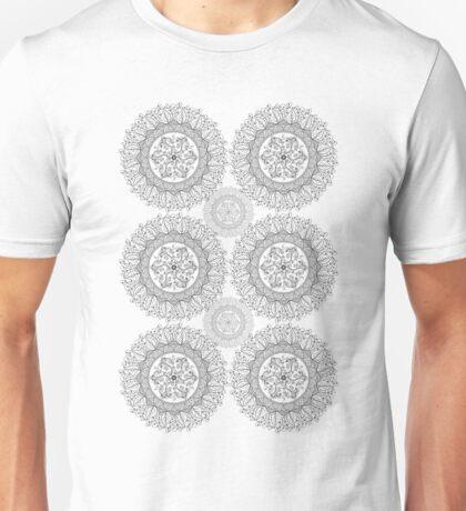Mandaleaf - Black a lot Unisex T-Shirt