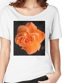 Orange Rose  Women's Relaxed Fit T-Shirt