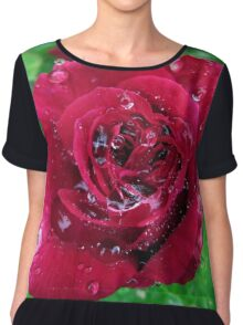 Raindrops on a Roses Petals Chiffon Top