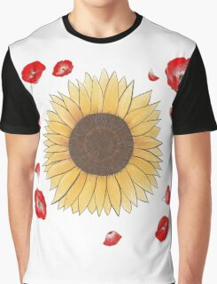 Sunflowers and Poppies Graphic T-Shirt