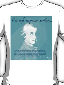 """Mozart and Marie """"One Wolf to Another"""" T-Shirt"""