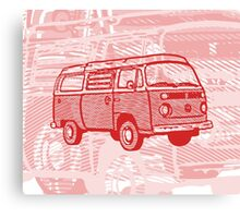 Red Bay Campervan Dub-U (please see description) Canvas Print