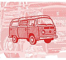 Red Bay Campervan Dub-U King Size Duvet (please see description), Pillow and Tote  Photographic Print