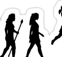 Cool Women's Basetball Evolution Silhouette  Sticker