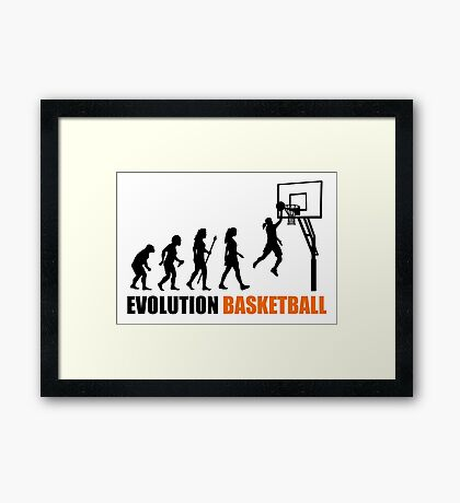 Cool Women's Basetball Evolution Silhouette  Framed Print