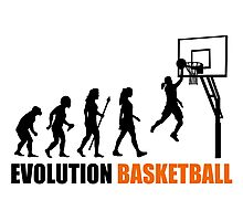 Cool Women's Basetball Evolution Silhouette  Photographic Print