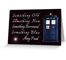 Doctor Who - Amy's Wedding Something Blue Greeting Card