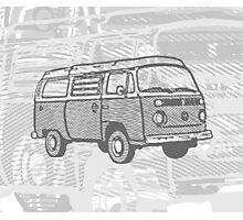 Grey Bay Campervan Dub-U King Size Duvet (please see description), Pillow and Tote  Photographic Print