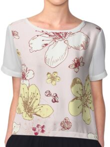 Soft Floral Blossoms Chiffon Top