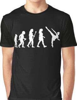 Funny Ballet Evolution Silhouette Graphic T-Shirt