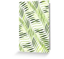 Green Leaves Pattern Greeting Card
