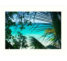 Turquoise & Aquamarine Bliss Art Print