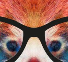Red Panda Hipster Sticker
