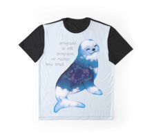 """Progress is Still Progress"" Galaxy Seal Graphic T-Shirt"