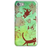 levitating kitties iPhone Case/Skin