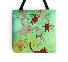 levitating kitties Tote Bag