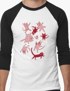 levitating kitties Men's Baseball ¾ T-Shirt