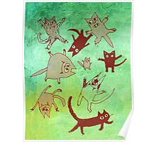 levitating kitties Poster