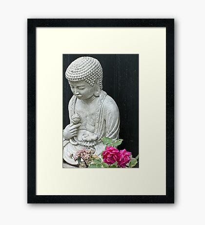 Garden Contemplation Framed Print
