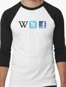 WTF Social & Web Men's Baseball ¾ T-Shirt