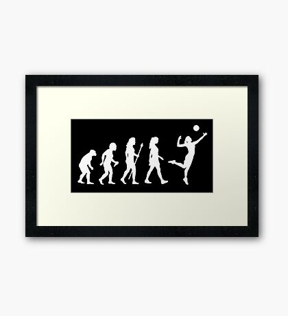 Volleyball Womens Evolution Silhouette Framed Print