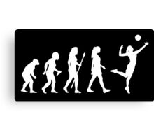 Volleyball Womens Evolution Silhouette Canvas Print