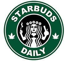 Starbuds I Love Cannabis & Coffee Photographic Print