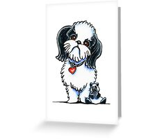 Shih Tzu Panda Greeting Card