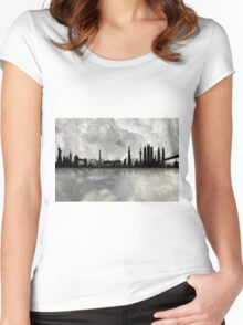 The Best city skyline Women's Fitted Scoop T-Shirt