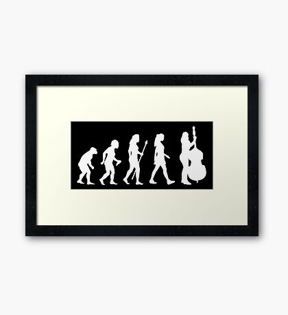 Evolution Of Womens Double Bass Silhouette Framed Print