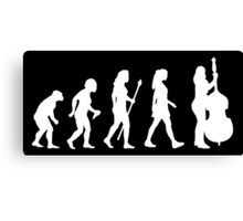 Evolution Of Womens Double Bass Silhouette Canvas Print