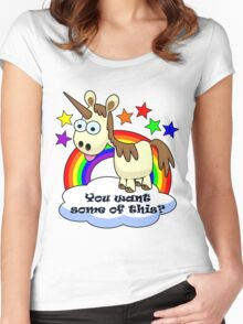 Unicorn - You Want Some of This? Women's Fitted Scoop T-Shirt