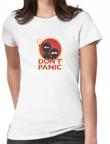 RICK AND MORTY | DONT PANIC Womens Fitted T-Shirt