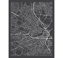 Cambridge Map, USA - Gray Photographic Print