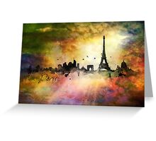City skyline - Paris Greeting Card