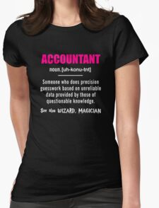 Accountant Shirt - Accountant Definition Shirt - Accountant Gifts Womens Fitted T-Shirt
