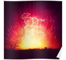 Cosmo + Celeste ( Colorful Cosmological Night Sky Couple in Love ) Poster
